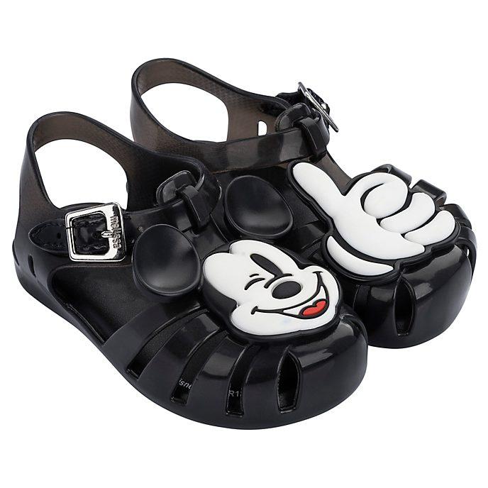 Sandalias de goma negro para bebé, Mickey Mouse, Melissa
