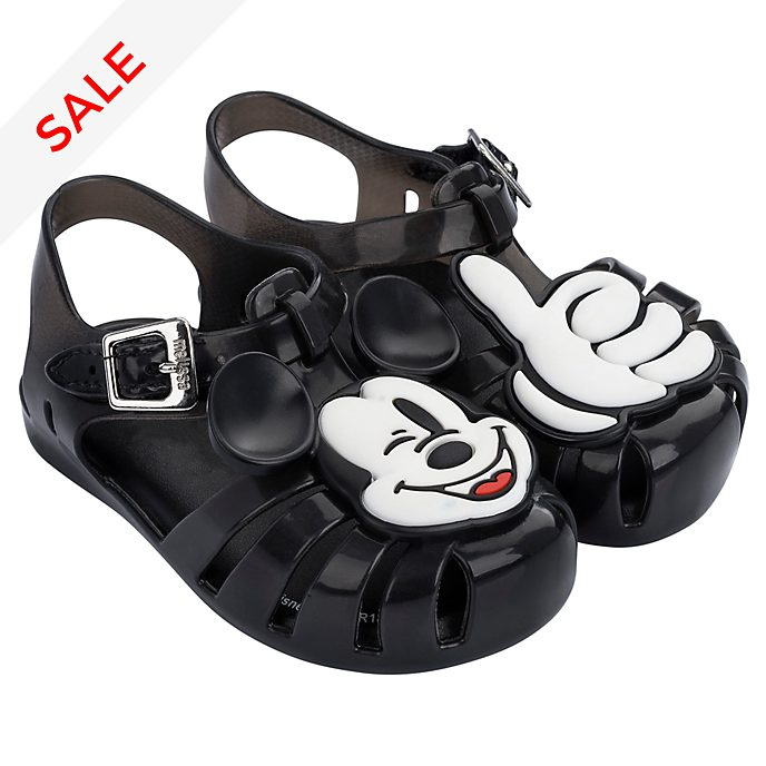 Melissa Mickey Mouse Baby Black Jelly Sandals