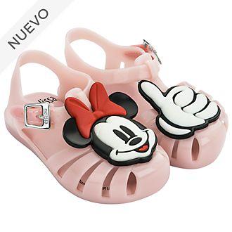 Sandalias de goma rosa para bebé, Minnie Mouse, Melissa