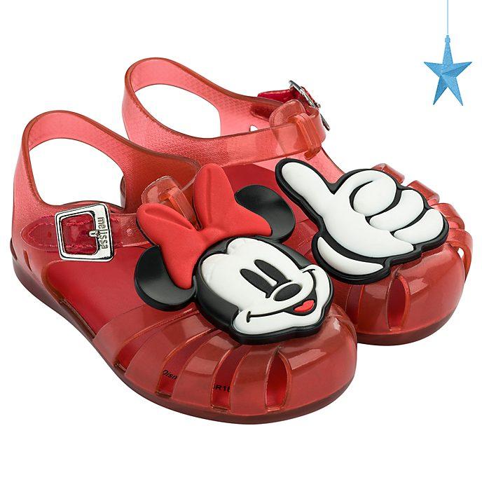 Melissa Sandales en plastique Minnie rouges pour bébé