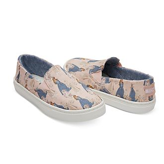 TOMS Sleeping Beauty Youth Luca Slip-On Shoes For Kids