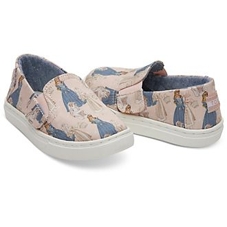 TOMS Sleeping Beauty Tiny Luca Slip-On Shoes For Kids