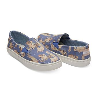 TOMS Snow White Youth Luca Slip-On Shoes For Kids