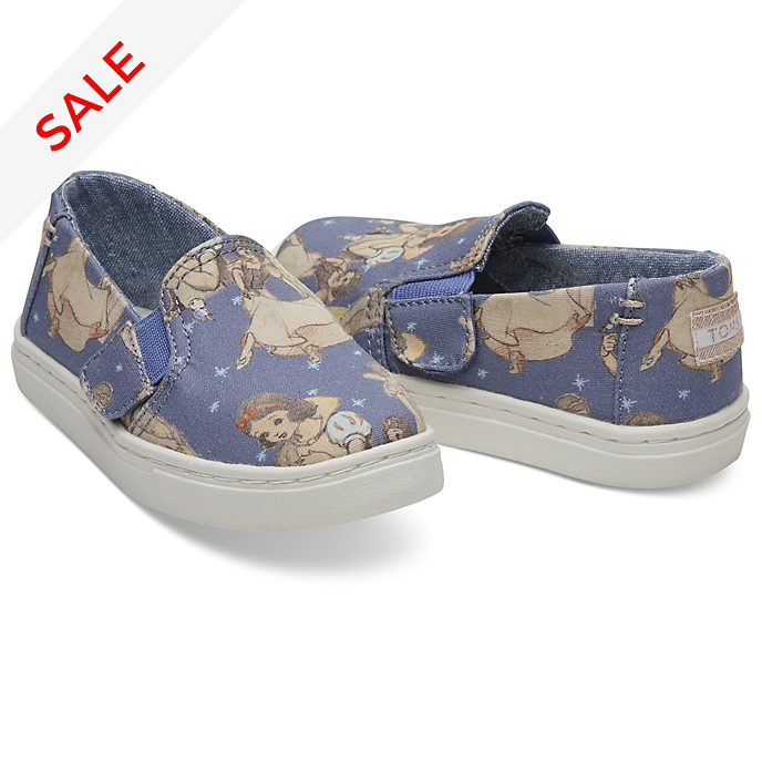TOMS Snow White Tiny Luca Slip-On Shoes For Kids