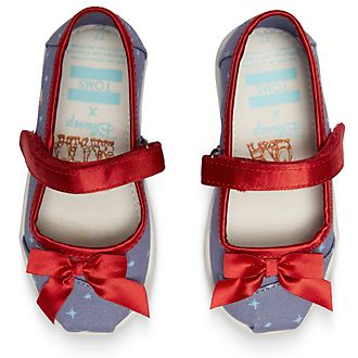 TOMS Snow White Tiny Mary Janes For Kids