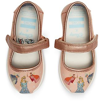 TOMS Sleeping Beauty Tiny Mary Janes For Kids