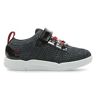 Clarks Black Widow Tri Hero First Trainers For Kids
