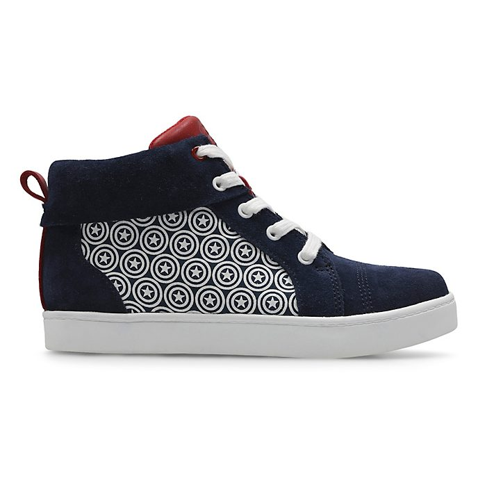 Clarks Captain America High Top Junior Trainers For Kids