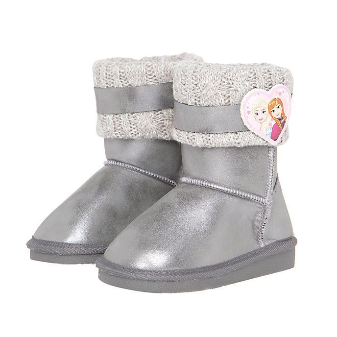 Arnetta - Die Eiskönigin - völlig unverfroren - Silberfarbene Stiefel für Kinder