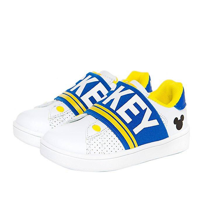 Arnetta Mickey Mouse White and Blue Trainers For Kids, Medium