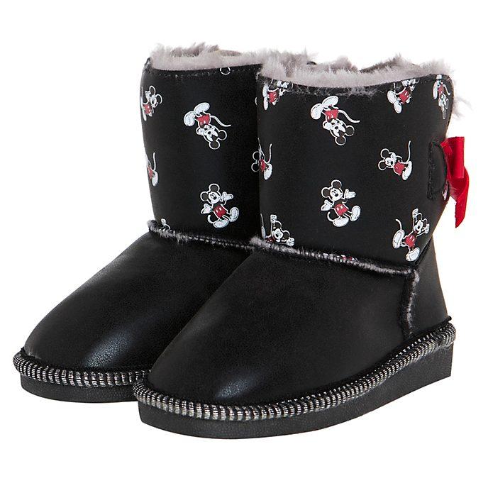 Arnetta Bottines Mickey Mouse pour enfants, moyenne taille