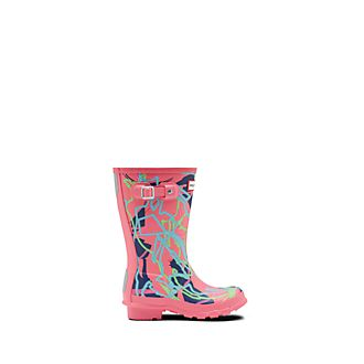 Hunter Mary Poppins Returns Pink Wellington Boots For Kids