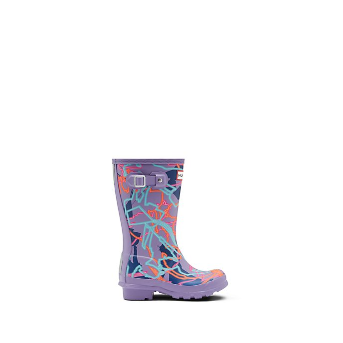 Hunter Mary Poppins Returns Purple Wellington Boots For Kids