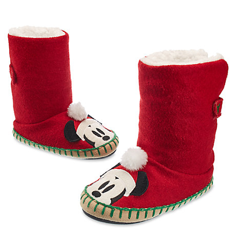 Pantuflas navideñas infantiles Mickey Mouse