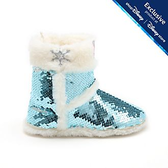 Disney Store Frozen 2 Reversible Sequin Slippers For Kids