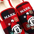 Disney Store Chaussons Mickey Mouse Holiday Cheer pour adultes