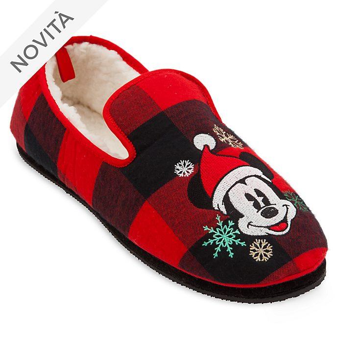 prezzo speciale per lussureggiante nel design buona consistenza Pantofole adulti Topolino Holiday Cheer Disney Store
