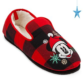 Disney Store Mickey Mouse Holiday Cheer Slippers For Adults