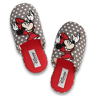 De Fonseca Minnie Mouse Grey Polka Dot Ladies' Slippers