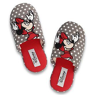 Zapatillas Minnie Mouse con lunares grises para mujer de De Fonseca