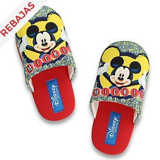 Zapatillas infantiles relieve Mickey Mouse, De Fonseca