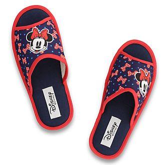 Zapatillas azules con dedos descubiertos Minnie Mouse para adultos, De Fonseca