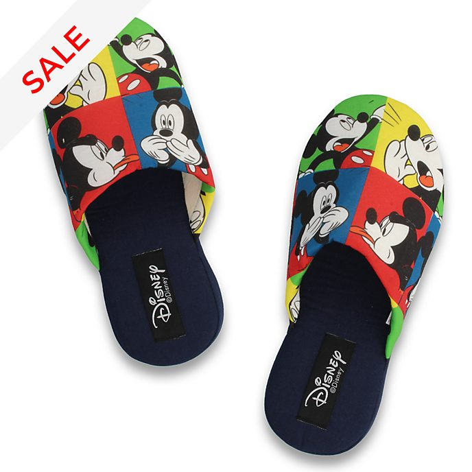 De Fonseca Mickey Mouse Colour Block Slippers For Adults