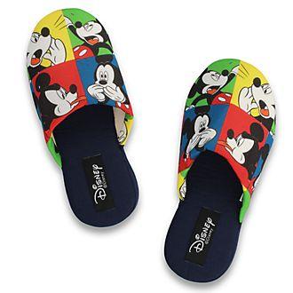 Zapatillas bloques de colores Mickey Mouse para adultos, De Fonseca