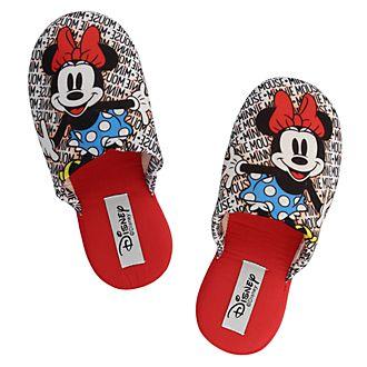 Zapatillas rojas Minnie Mouse para adultos, De Fonseca