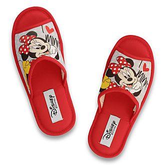 Zapatillas rojas con dedos descubiertos Minnie Mouse para adultos, De Fonseca