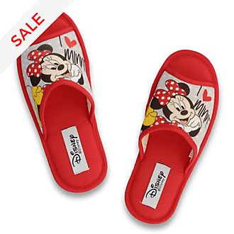 De Fonseca Minnie Mouse Red Open Toe Slippers For Adults