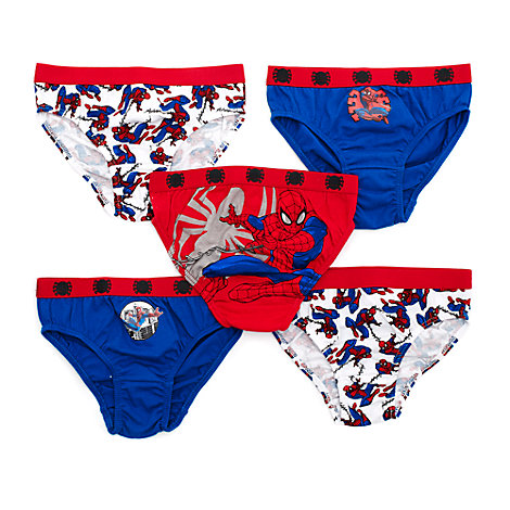 Spider-Man Briefs for Kids, Pack of 5
