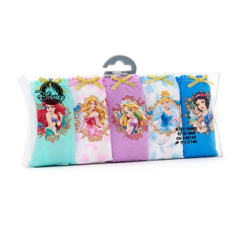 Ensemble de 5culottes Princesses Disney pour enfants