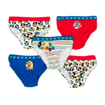 Mickey Mouse Roadster Racers Briefs for Kids, Pack of 5
