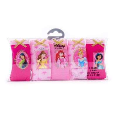 Disney Princess Briefs For Kids, Pack of 5