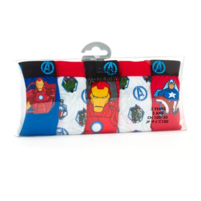 Ensemble de 5 slips Avengers pour enfants