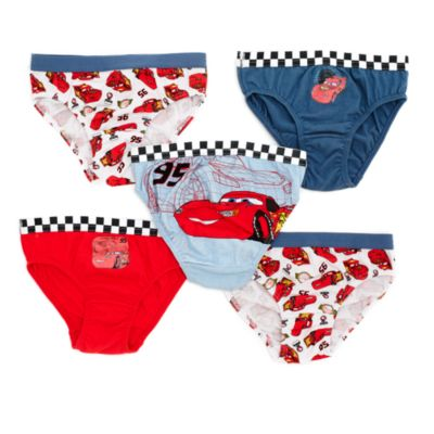 Disney Pixar Cars Briefs for Kids, Pack of 5