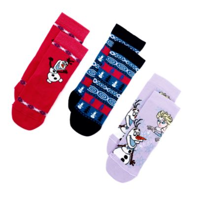 Olaf's Frozen Adventure Socks For Kids, 3 Pairs