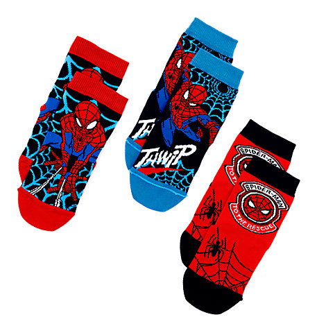 Spider-Man Socks For Kids, 3 Pairs