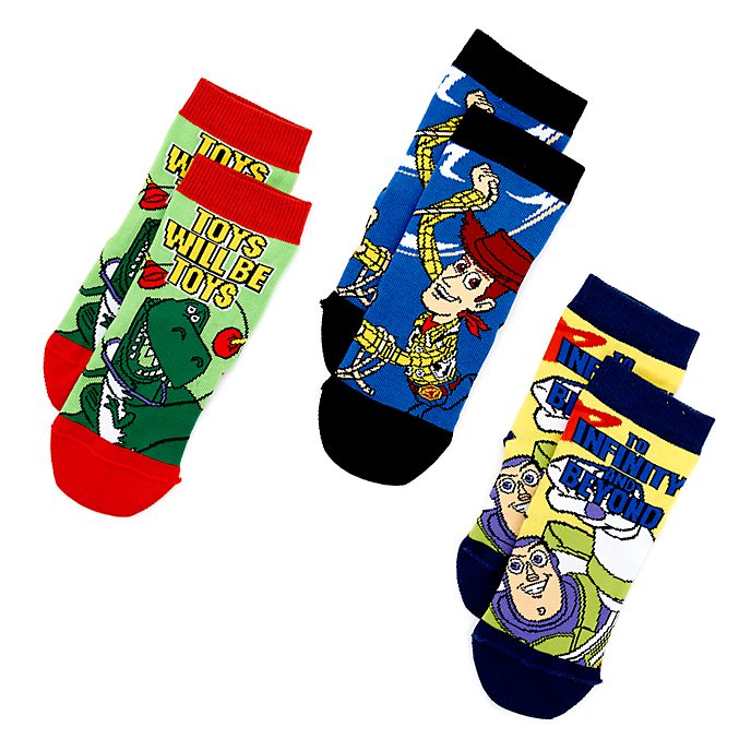 Toy Story Socks For Kids, 3 Pairs