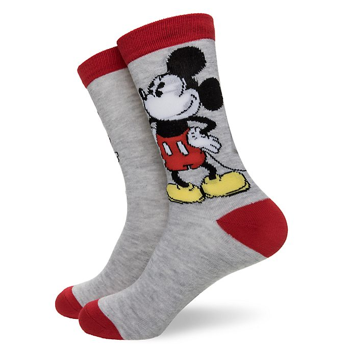 Disney Store Chaussettes Mickey pour adultes, 1 paire