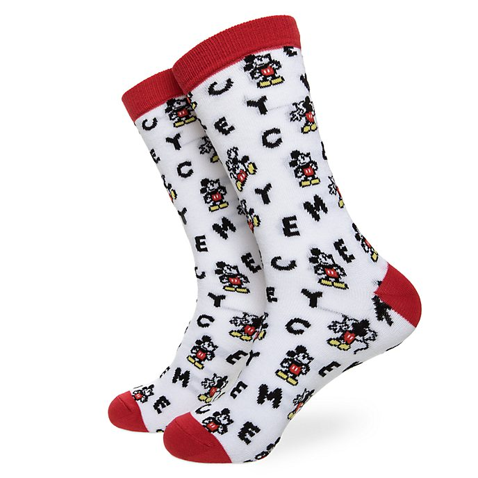 Disney Store Chaussettes alphabet Mickey pour adultes, 1paire