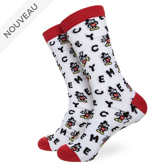 Disney Store Chaussettes Mickey pour adultes, 1paire