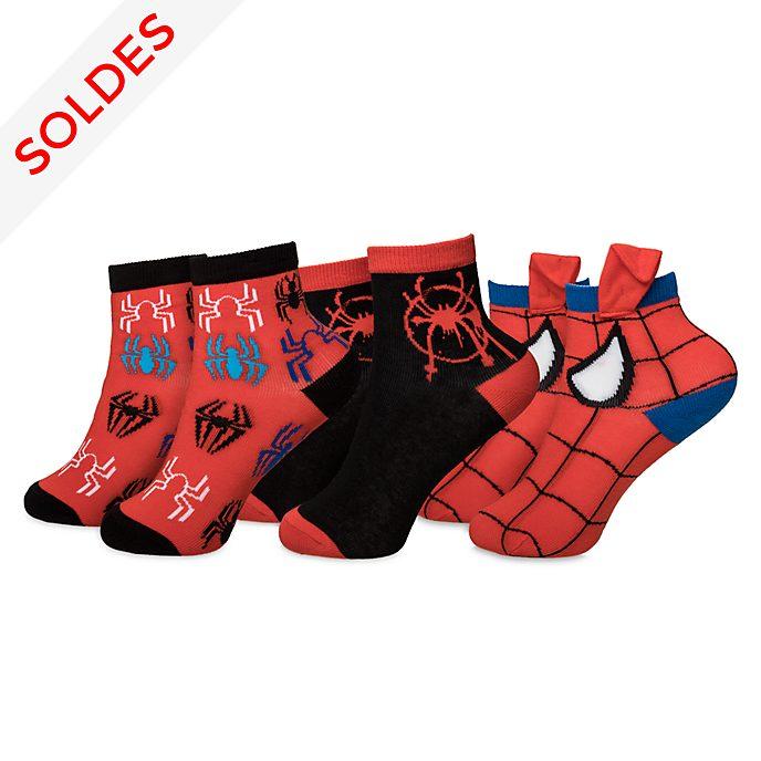 Disney Store Chaussettes Spider-Man: New Generation pour enfants, 3paires