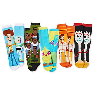 Disney Store Toy Story 4 Sock Set For Adults, 5 pairs