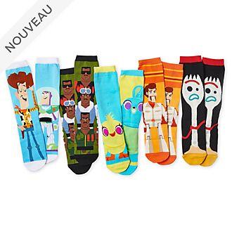 Disney Store Lot de chaussettes Toy Story4, pour adultes, 5paires