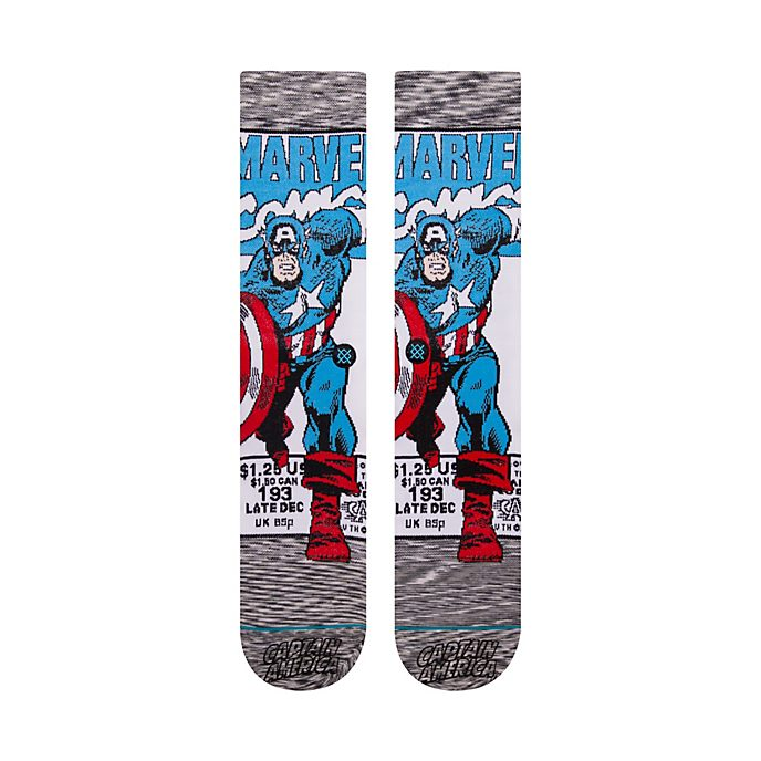 Calcetines tipo cómic Capitán América para adultos, Stance