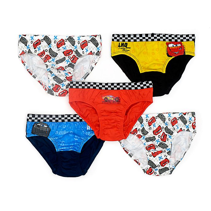 Disney Store Slips Disney Pixar Cars pour enfants, lot de 5