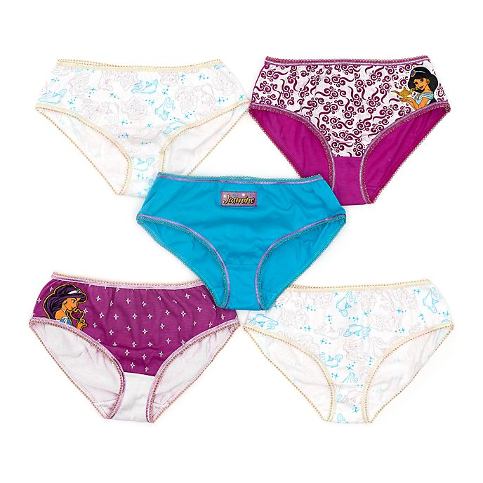 Disney Store Culottes Princesse Jasmine pour enfants, lot de5