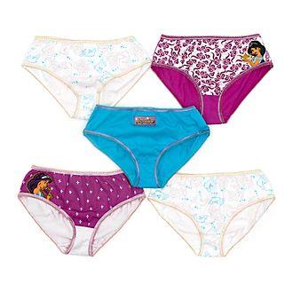 Disney Store - Prinzessin Jasmin - Slips für Kinder, 5er-Pack